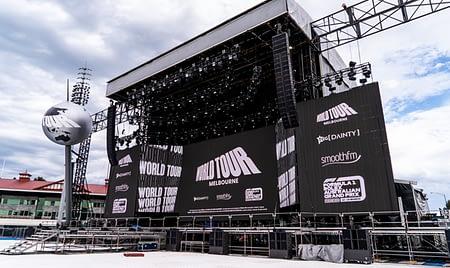 World Tour Stage Setup
