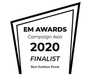 em awards campaign asia 2020 finalist best outdoor event