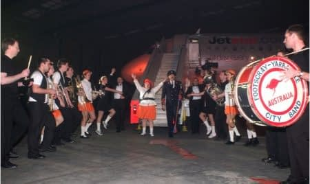 Jetstar A320 Launch welcome band