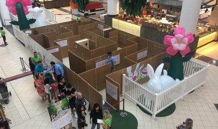 Market City Easter Wonderland Maze View